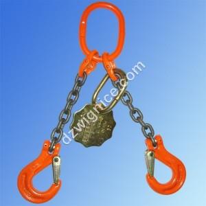 Zawiesia łańcuchowe 2-cięgnowe zakończone hakami DOR  2,65t