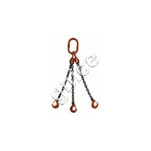 Zawiesia łańcuchowe 3-cięgnowe zakończone hakami DOR  4,0t