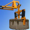 Uchwyt szczękowy do podnoszenia kręgów betonowych typ  2UBX z mocowaniem typu bocian