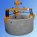 Uchwyt szczękowy do podnoszenia kręgów betonowych typ  3UBX